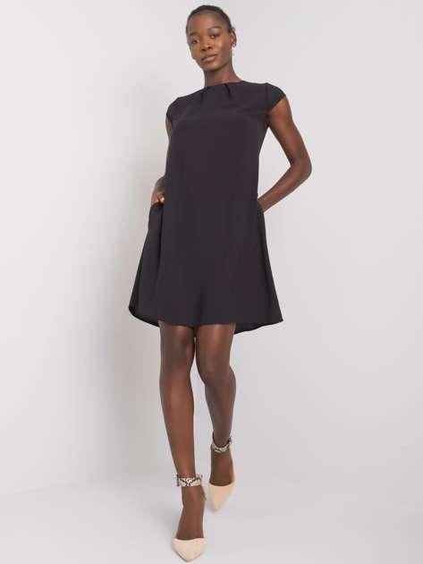 Czarna sukienka z kieszeniami Naima RUE PARIS