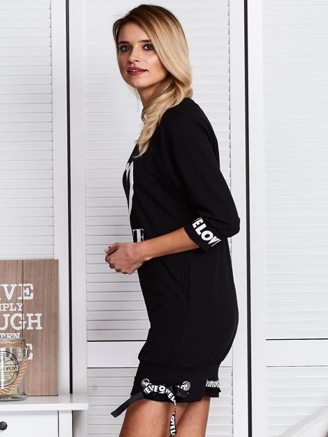 Czarna sukienka z sercem                              zdj.                              5