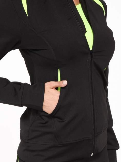 Czarna termoaktywna bluza do biegania z fluozielonymi wstawkami ♦ Performance RUN                                  zdj.                                  8
