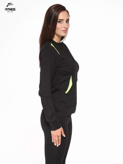 Czarna termoaktywna bluza do biegania z fluozielonymi wstawkami ♦ Performance RUN                                  zdj.                                  3