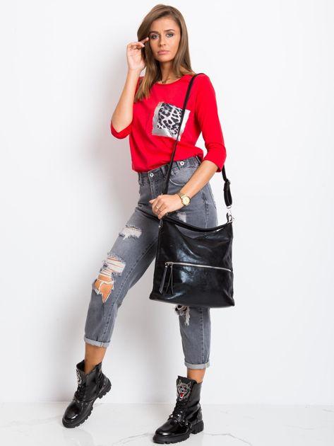 Czarna torba damska z ekoskóry                              zdj.                              4