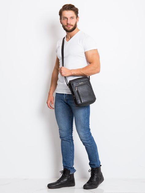 Czarna torba dla mężczyzny ze skóry                              zdj.                              5