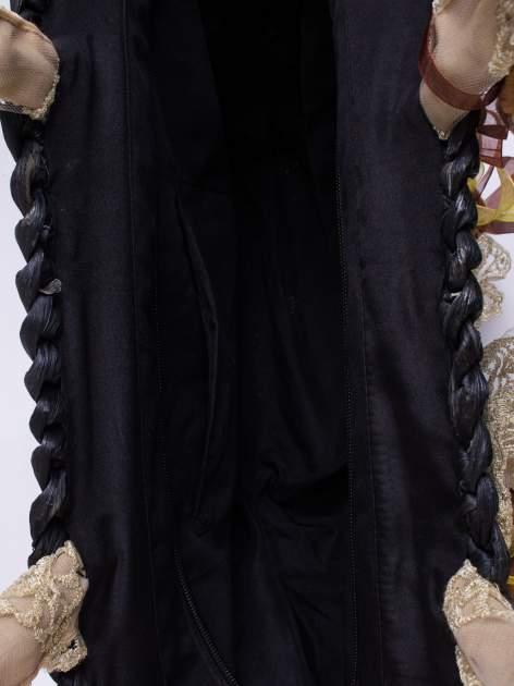 Czarna torba koszyk plażowy z kwiatami                                  zdj.                                  6