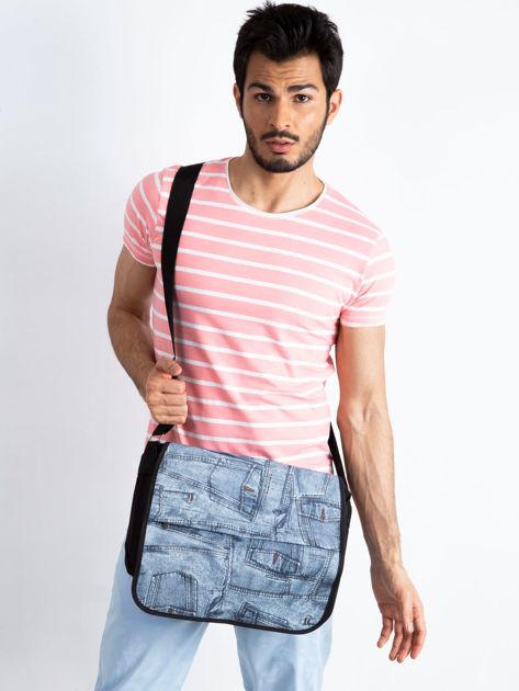 Czarna torba męska na ramię z klapką                              zdj.                              5
