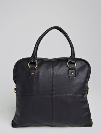 Czarna torba miejska na ramię