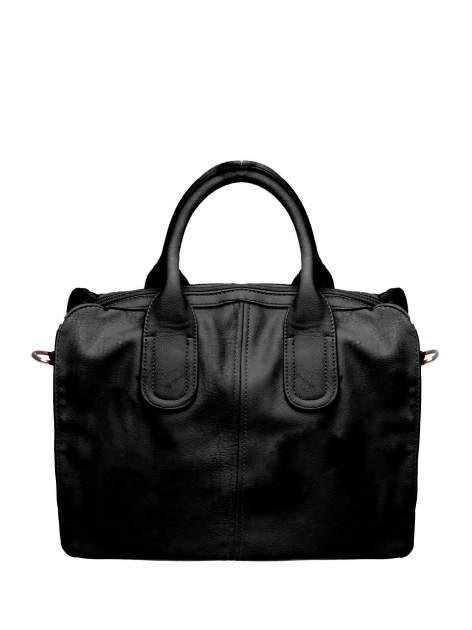 Czarna torba miejska z odpinanym paskiem                                  zdj.                                  1