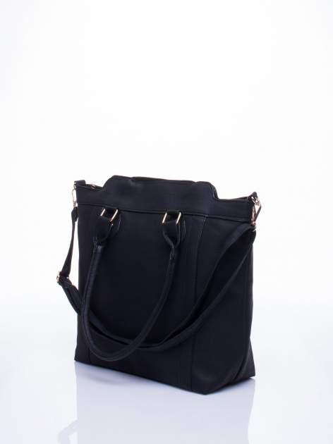 Czarna torba miejska z odpinanym paskiem                                  zdj.                                  4