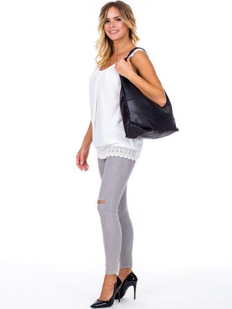 Czarna torba-plecak z odpinanymi szelkami                              zdj.                              5