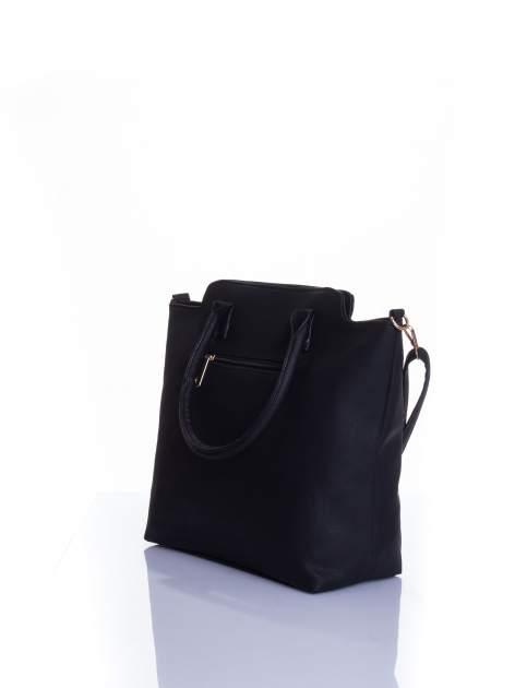 Czarna torba shopper bag                                  zdj.                                  4