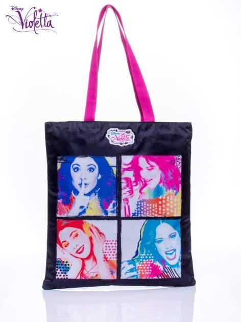 Czarna torba shopper bag dla dziewczynki DISNEY Violetta                                  zdj.                                  1