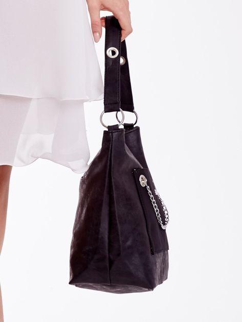 Czarna torba z łańcuszkiem                              zdj.                              6