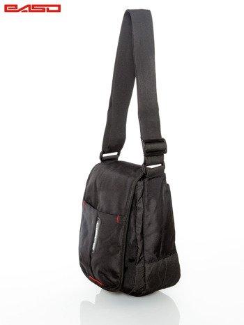 Czarna torba z regulowanym paskiem                                   zdj.                                  2
