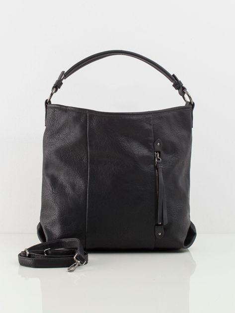 Czarna torba ze skóry ekologicznej
