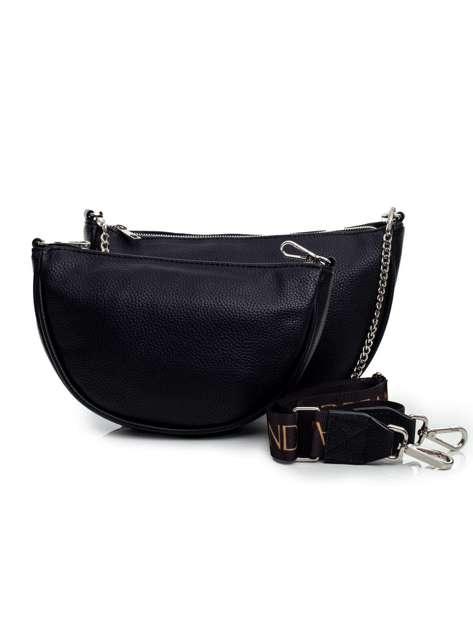Czarna torebka damska z odpinaną saszetką
