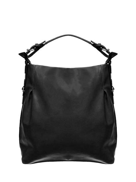 Czarna torebka hobo na ramię                                  zdj.                                  1