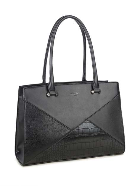 Czarna torebka kuferek LUIGISANTO