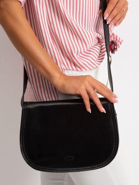 Czarna torebka ze skóry naturalnej                              zdj.                              1