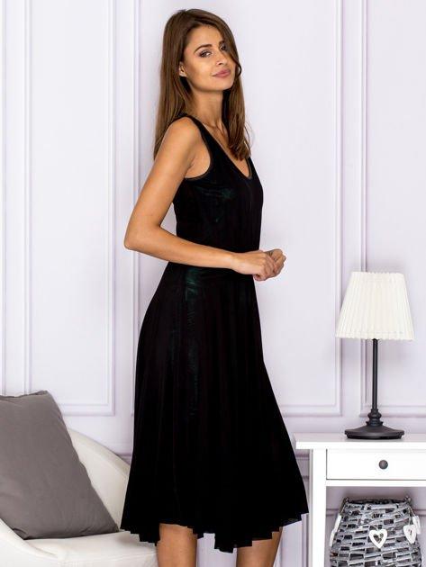 Czarna warstwowa sukienka                                  zdj.                                  3
