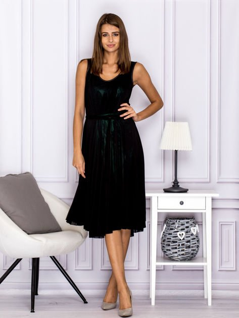Czarna warstwowa sukienka                              zdj.                              4