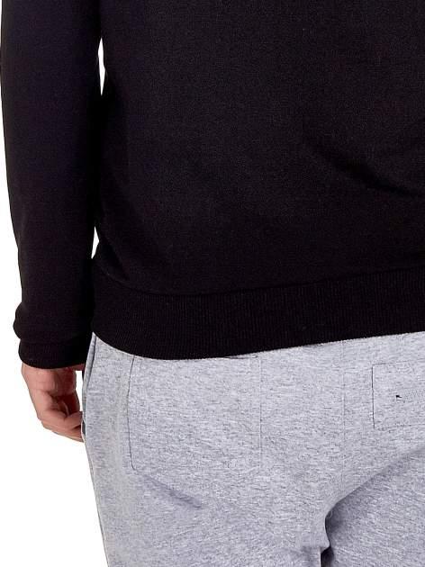 Czarna zasuwana bluza z kapturem z napisem STYLISH & LOVABLE                                  zdj.                                  7