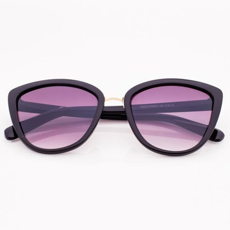 Czarne Damskie Okulary przeciwsłoneczne CAT EYE                              zdj.                              1