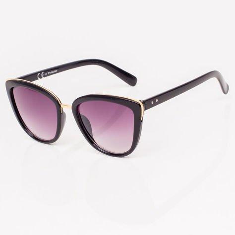 Czarne Damskie Okulary przeciwsłoneczne CAT EYE                              zdj.                              2