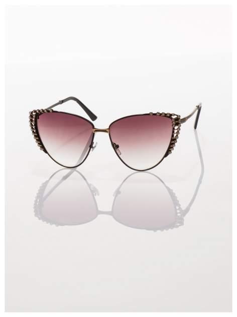 Czarne KOCIE OCZY okulary przeciwsłoneczne w stylu RETRO