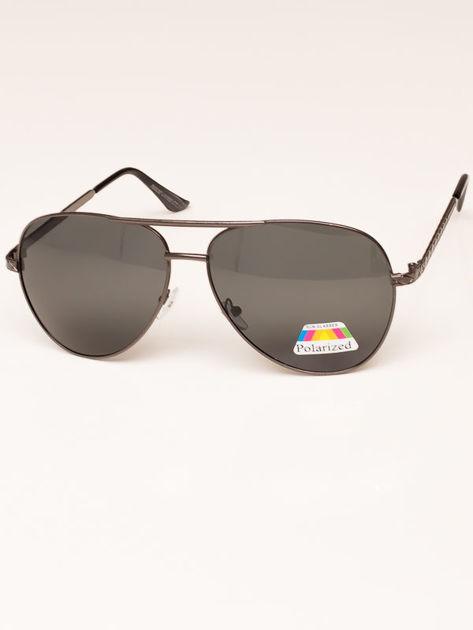 Czarne Okulary Przeciwsłoneczne POLARYZACYJNE Pilotki Aviatory                              zdj.                              2