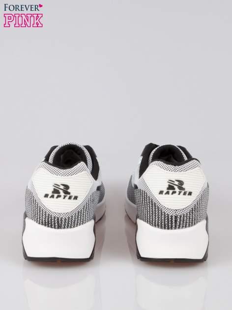 Czarne adidasy damskie na podeszwie z poduszką powietrzną                                  zdj.                                  3