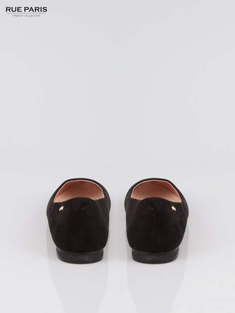 Czarne baleriny dual leather Gloss z lekkim metalizowaniem                                  zdj.                                  3