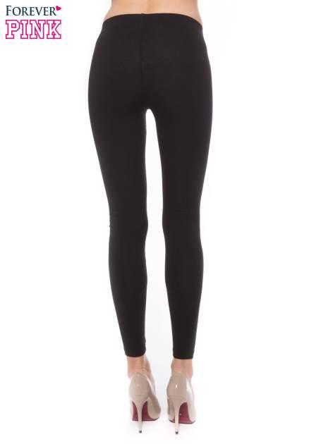 Czarne bawełniane legginsy                                  zdj.                                  3