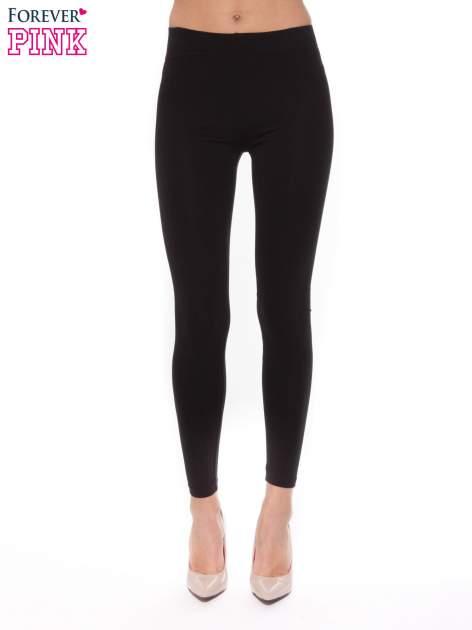 Czarne bawełniane legginsy                                  zdj.                                  1