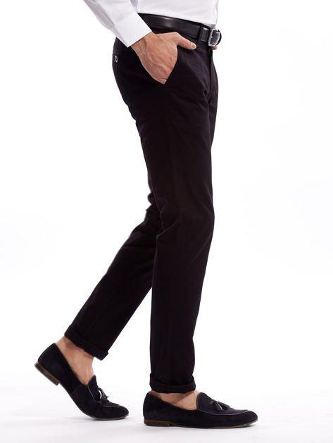 Czarne bawełniane spodnie męskie                               zdj.                              14