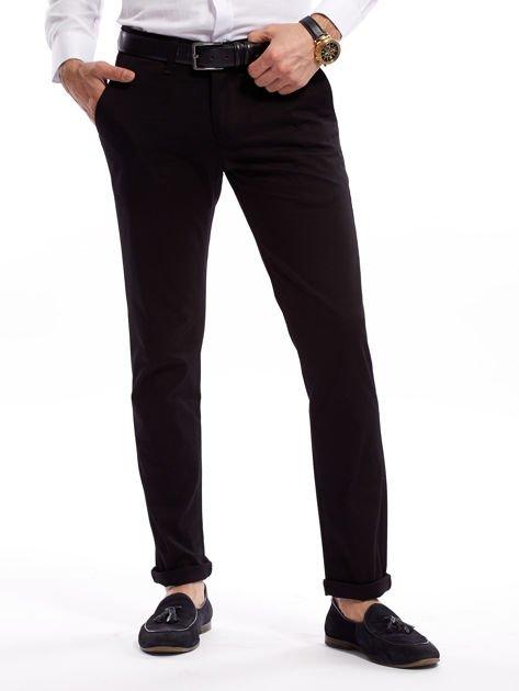 Czarne bawełniane spodnie męskie                               zdj.                              1