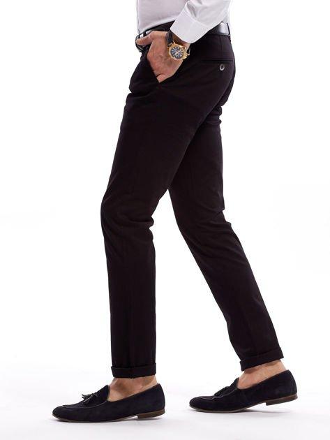 Czarne bawełniane spodnie męskie                               zdj.                              3