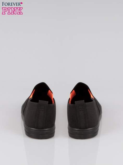 Czarne buty slip on                                  zdj.                                  3