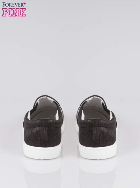 Czarne buty sliponki glitter                                  zdj.                                  3