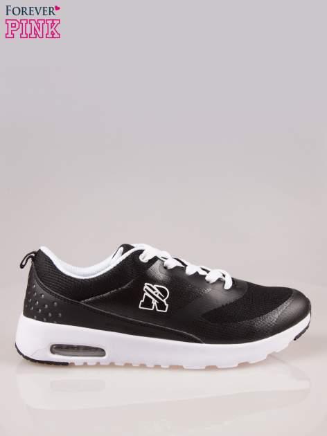 Czarne buty sportowe New York z siateczką i poduszką powietrzną w podeszwie                                  zdj.                                  1