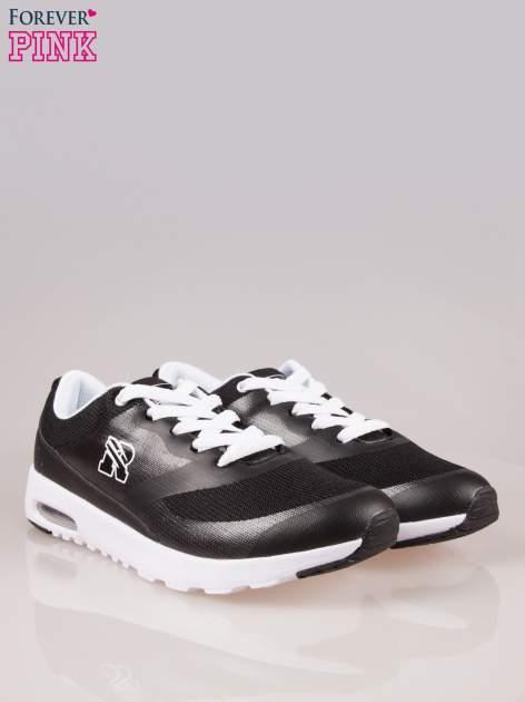 Czarne buty sportowe New York z siateczką i poduszką powietrzną w podeszwie                                  zdj.                                  2