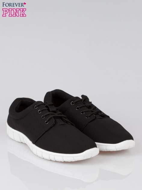 Czarne buty sportowe textile Superior na podeszwie flex                                  zdj.                                  2