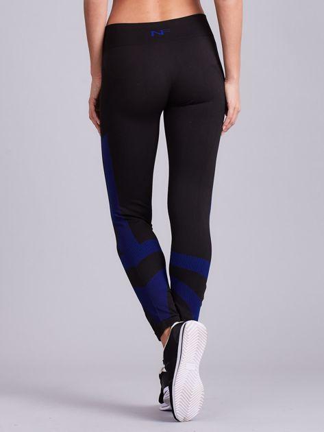 Czarne damskie legginsy sportowe                               zdj.                              3