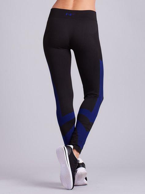 Czarne damskie legginsy sportowe                               zdj.                              8