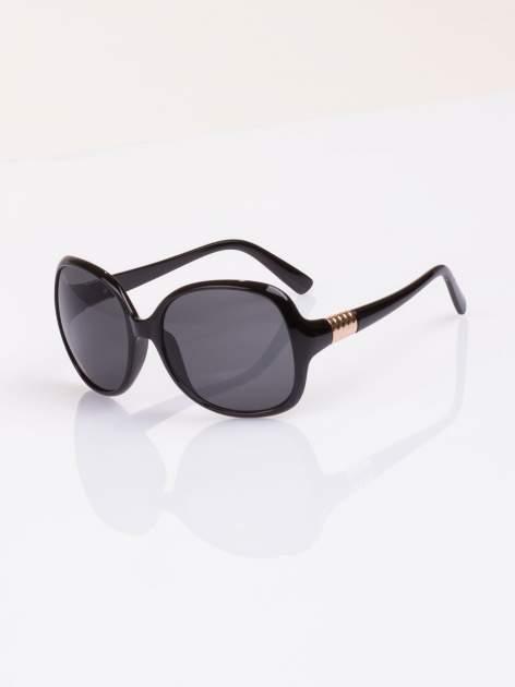 Czarne duże okulary blogerek MUCHY