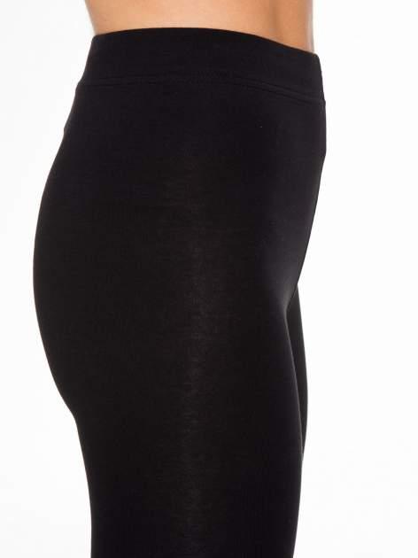 Czarne elastyczne legginsy damskie z bawełny                                  zdj.                                  6