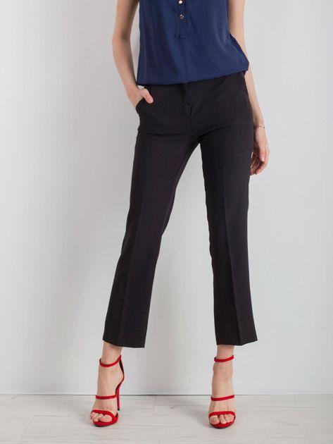 Czarne eleganckie damskie spodnie                              zdj.                              1