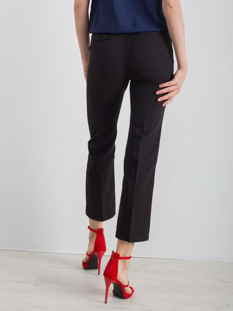 Czarne eleganckie damskie spodnie                              zdj.                              2