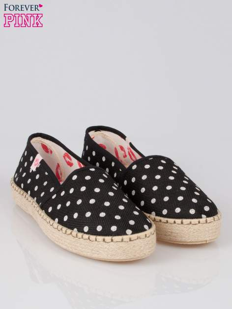 Czarne espadryle Willow Kiss w groszki                                  zdj.                                  2