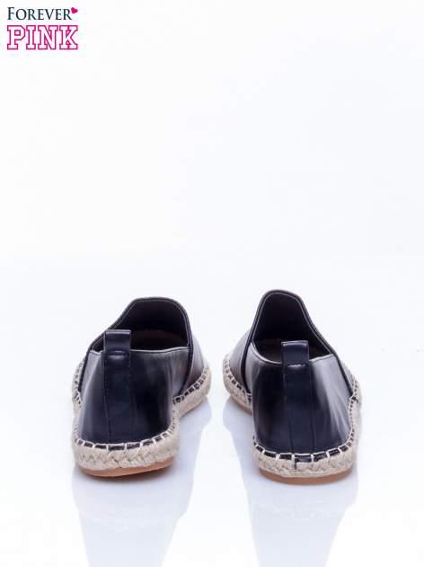Czarne espadryle faux leather Madeleine two tone                                  zdj.                                  4