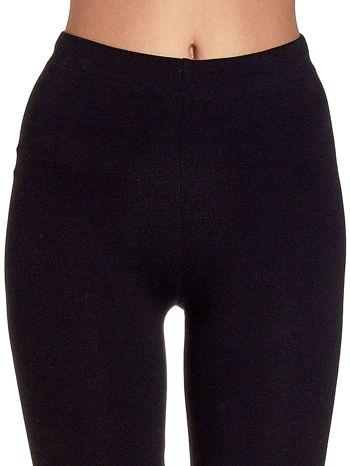 Czarne gładkie legginsy damskie basic                                  zdj.                                  5