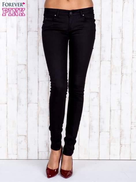 Czarne jeansowe spodnie rurki skinny jeans                                  zdj.                                  1